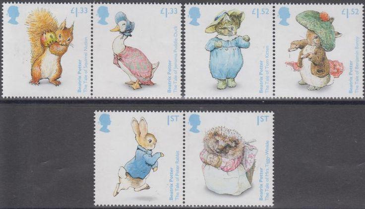 Großbritannien: Briefmarken/Blocks: Beatrix Potter, Comic, Tiere, Eule (037) **