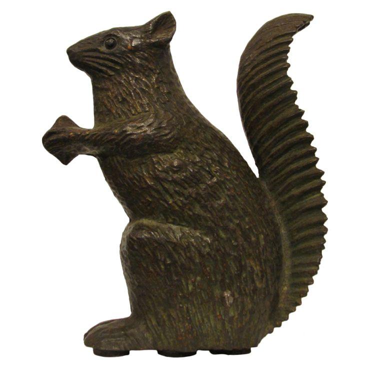 17 best images about door stops on pinterest flower basket parrots and roosters - Cast iron squirrel door stop ...