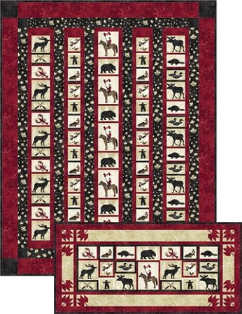 Canadian Content, Quilt kit , Pattern by Jean Boyd