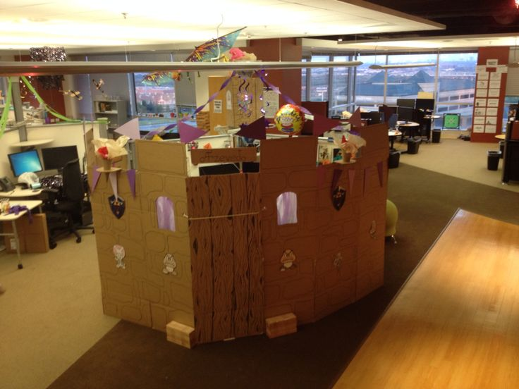 For A Coworkers Birthday We Made A Cardboard Castle