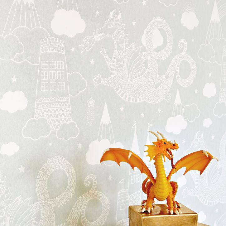 Dragon Sky Wallpaper - Grey | Nubie