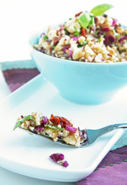 """Anti"" Pasta Cauliflower Salad - Low Carb and Gluten Free | I Breathe I'm Hungry"