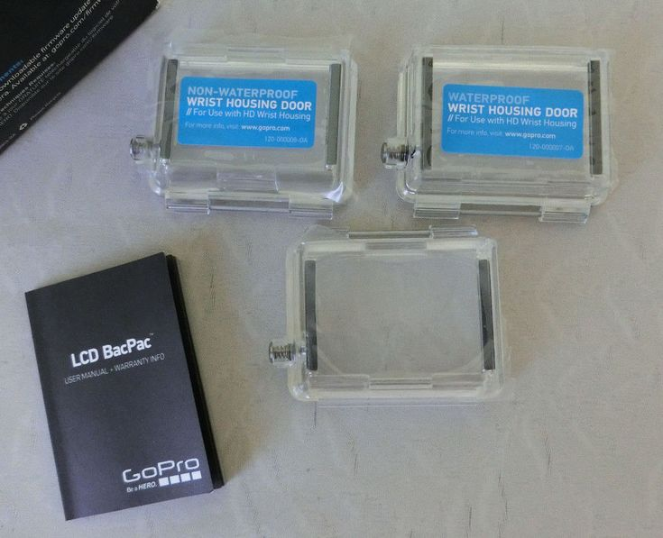3 Genuine GoPro LCD Touch BacPac Door Cover Set #GoPro
