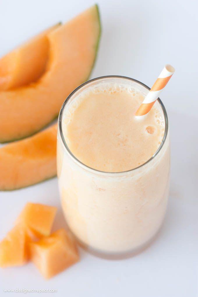 Frullato al melone: dissetante, gustoso, energizzante. #ricetta #idea #estate