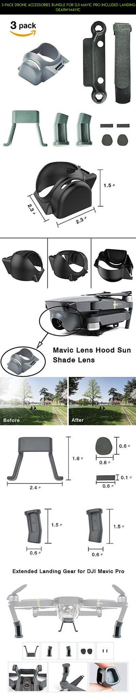 3-Pack Drone Accessories Bundle for DJI Mavic Pro Included Landing GearMavic #shopping #fpv #pro #dji #racing #mavic #accessories #plans #drone #gadgets #products #technology #tech #kit #camera #parts