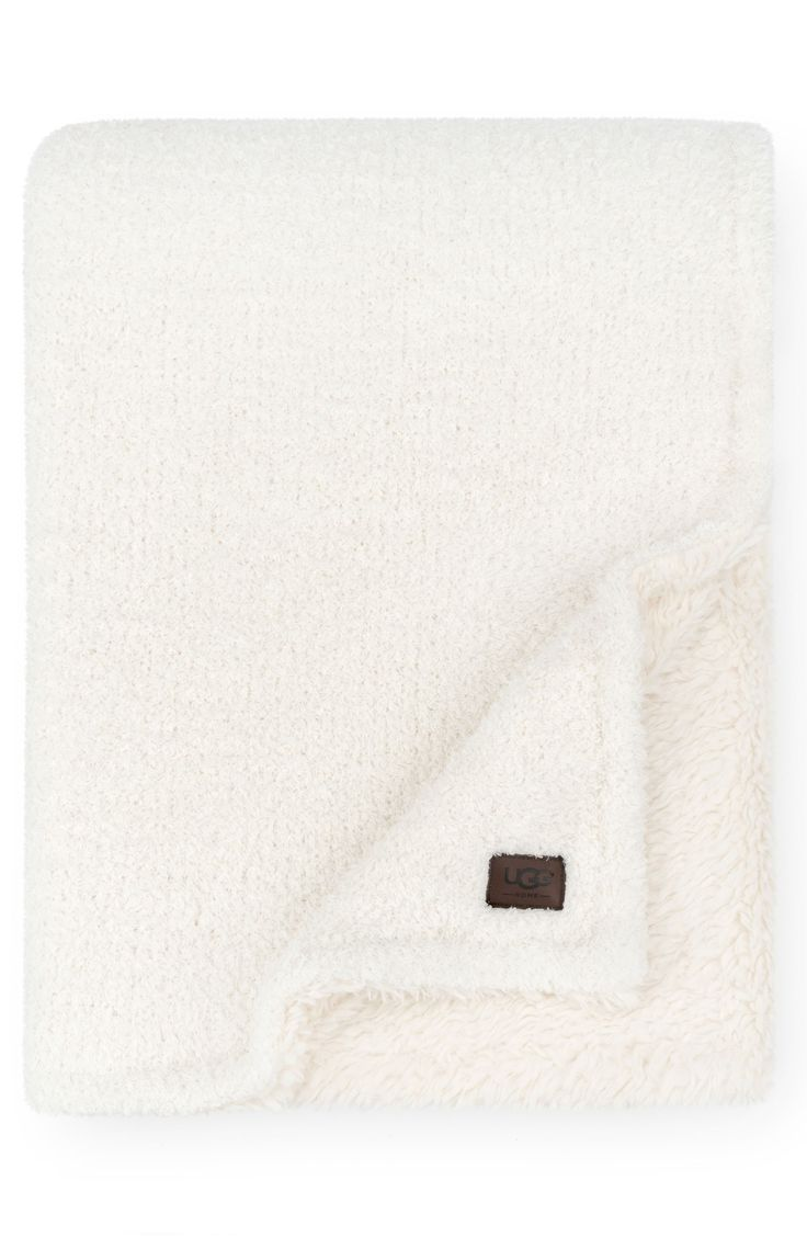 Ugg ana faux shearling throw size one size blue