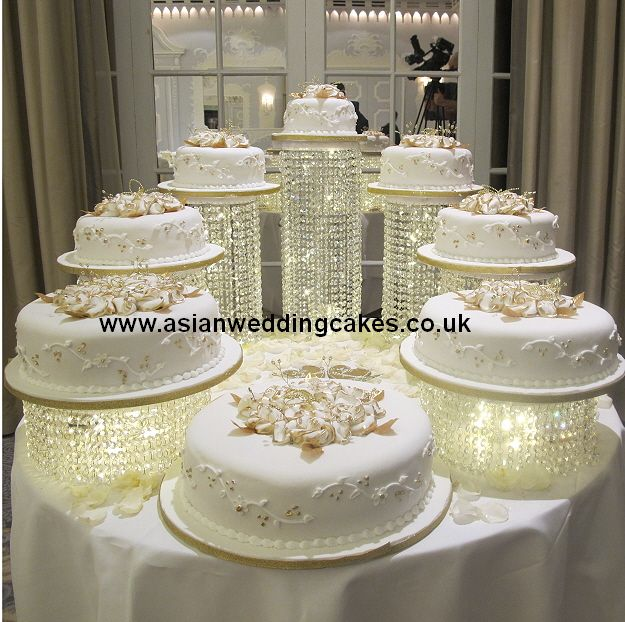 crystal wedding cake | crystal wedding cake colelction 8 tier spiral crystal iced cake with ...