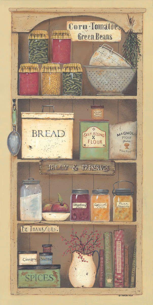 Farmhouse Pantry II by Pam Britton - Art Print Framed & Unframed at www.framedartbytilliams.com