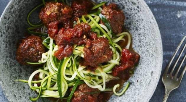 Squash-spaghetti med øko-oksedeller