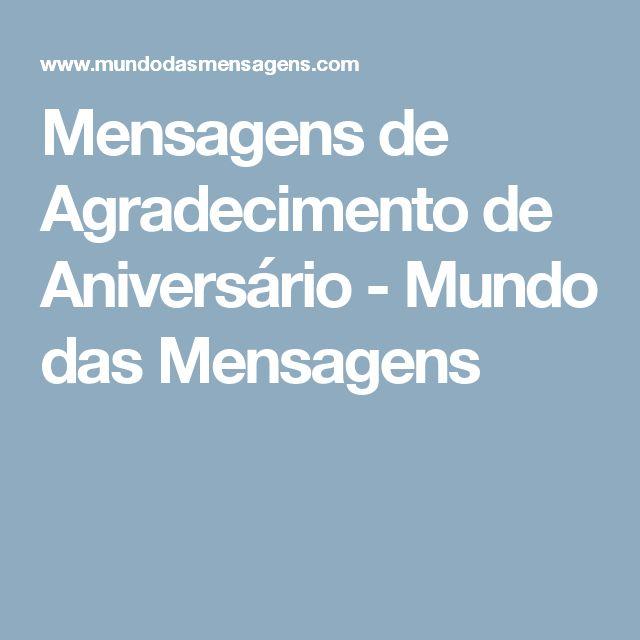 Mensagens de Agradecimento de Aniversário - Mundo das Mensagens