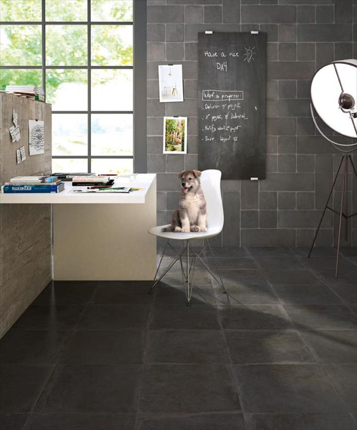 BuildDirect – Wall Tile - Nottingham Collection – Black Nero - Living Room View