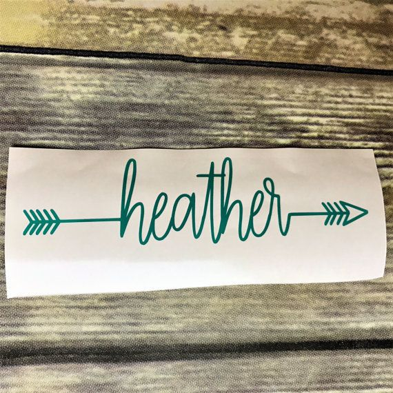 Personalized Arrow Name Vinyl Decal | Custom Sticker | Perfect for: Car Window, Yeti Cup, Water Bottle, Laptop, Notebook, Planner