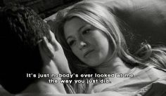 """Gossip Girl. Serena and Dan. """"It's just nobody's ever looked at me the way you just did."""""""