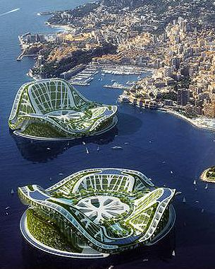 THE FLOATING CITIES OF THE FUTURE.