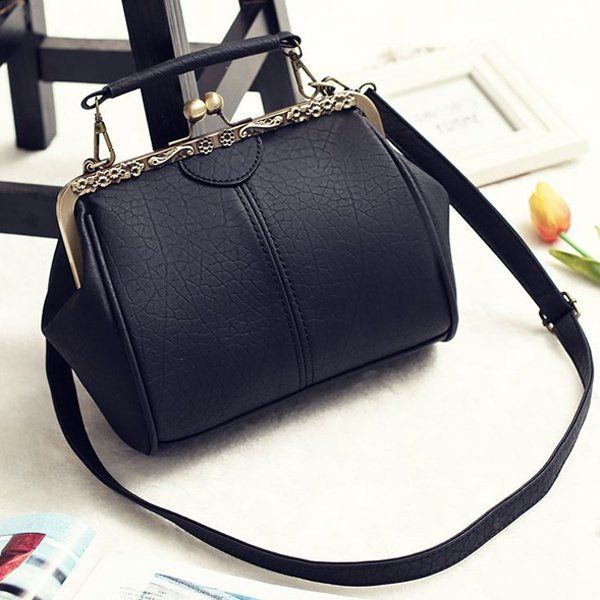Hot-sale designer Women Vintage Hasp Bucket Bags PU Leather Crossbody Bags Online - NewChic