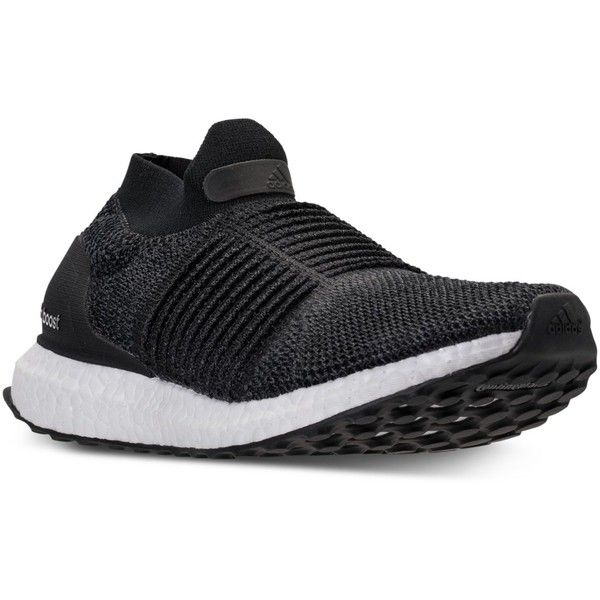 adidas Women's UltraBOOST Laceless Running Sneakers from Finish Line ($200) ❤ liked on Polyvore featuring shoes, sneakers, core black, adidas trainers, adidas sneakers, adidas shoes, adidas footwear and black shoes