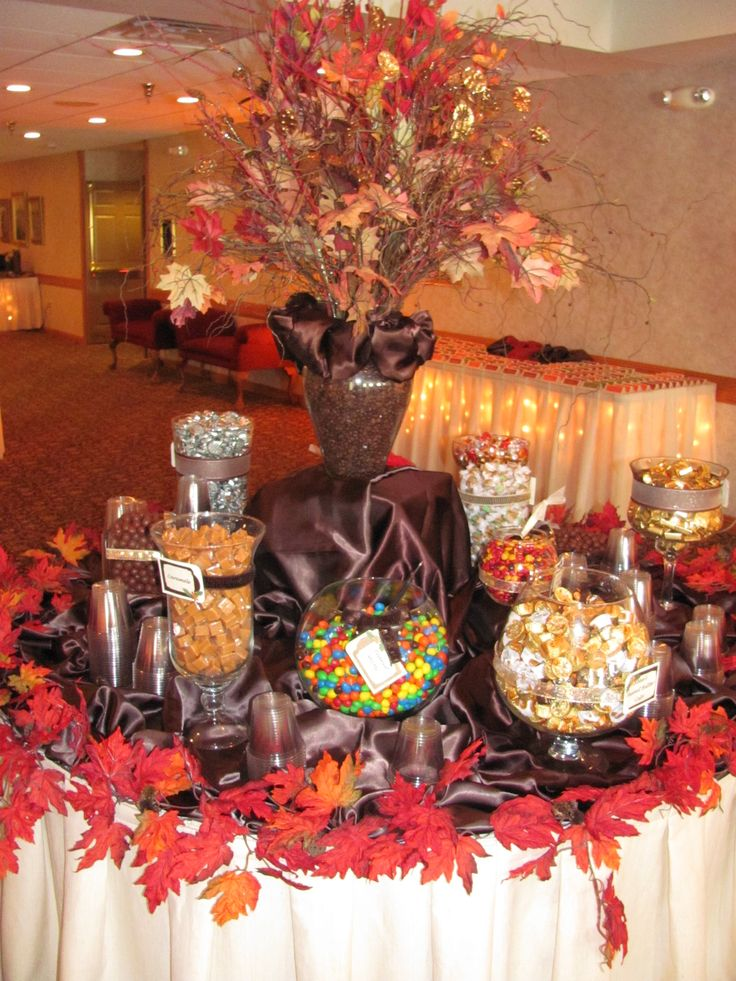 An Autumn Inspired Candy Buffet Wedding Image