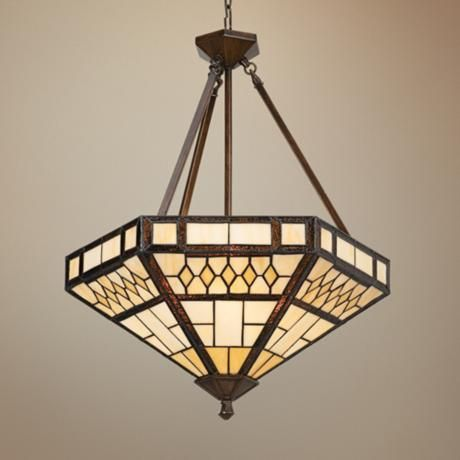 Tiffany Glass Pendant Light - thinking of this for my dining room.