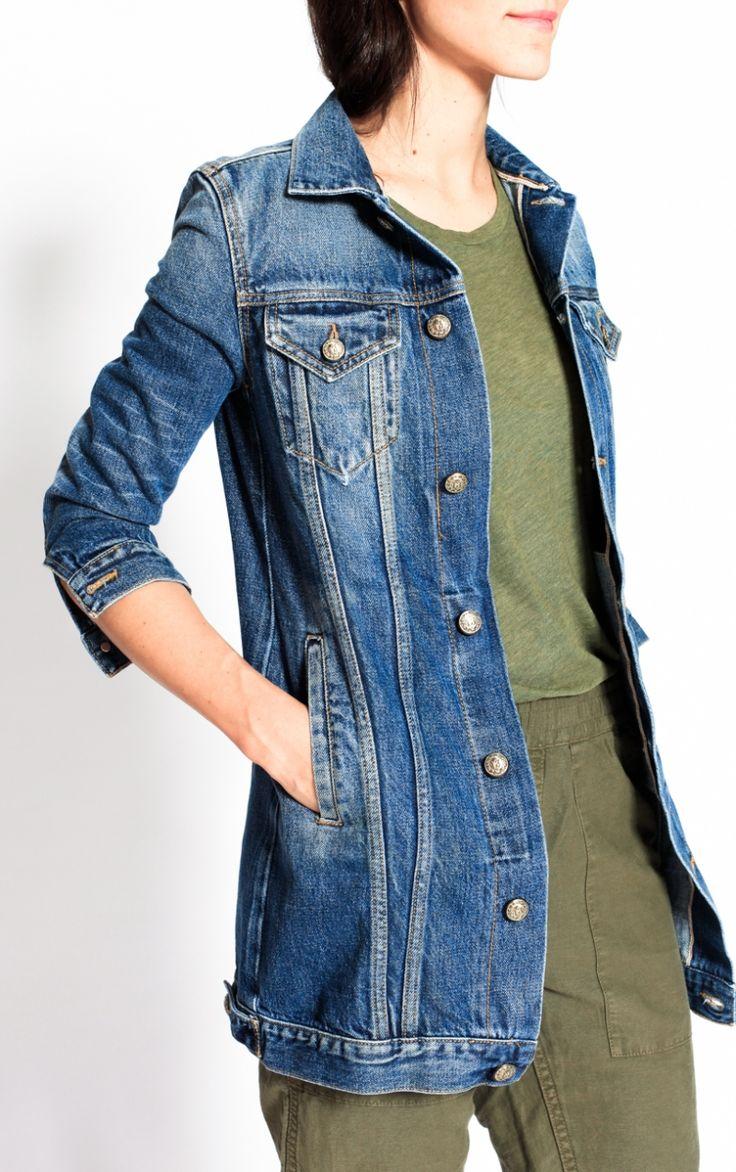longue veste en jeans r13 denim veste longue veste en jean et veste