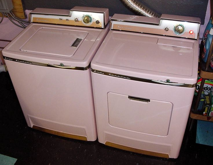 1957 Lady Kenmore washer and dryer in   pink. :)