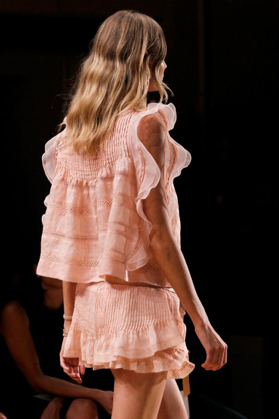 In love with Isabel Marant. This pink broderie outfit is marvelous!