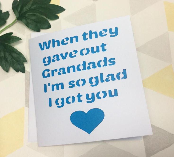 Grandad card, fathers day card, card for grandad, grandad gift, grandad father's day, fathers day gift, card for dad, grandfather, by AprilDaysDesigns on Etsy