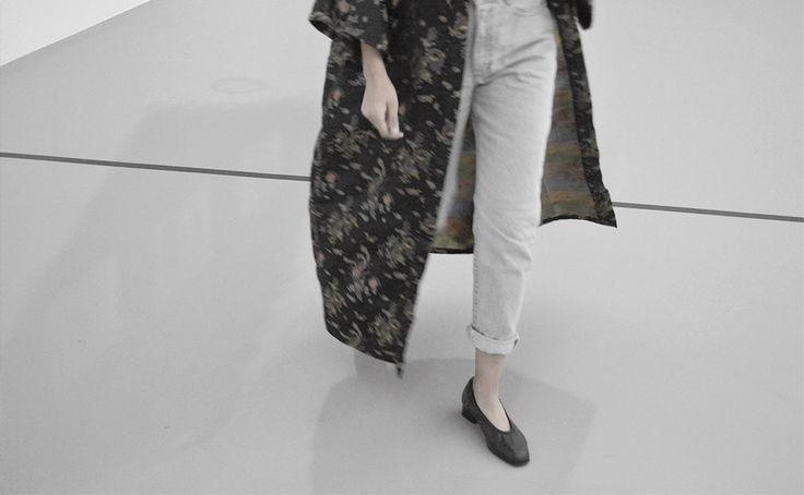 Total look vintage : Kimono Japonais Vintage | Jean Lee Cooper Vintage | Escarpin Carel Vintage