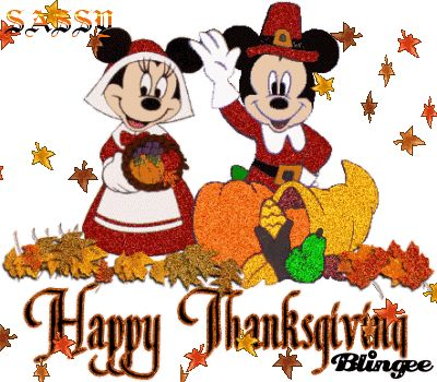 Glitter Mickey Mouse Thanksgiving Animated GIF