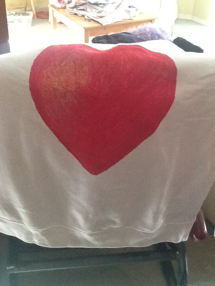 My Heart Sweater I painted