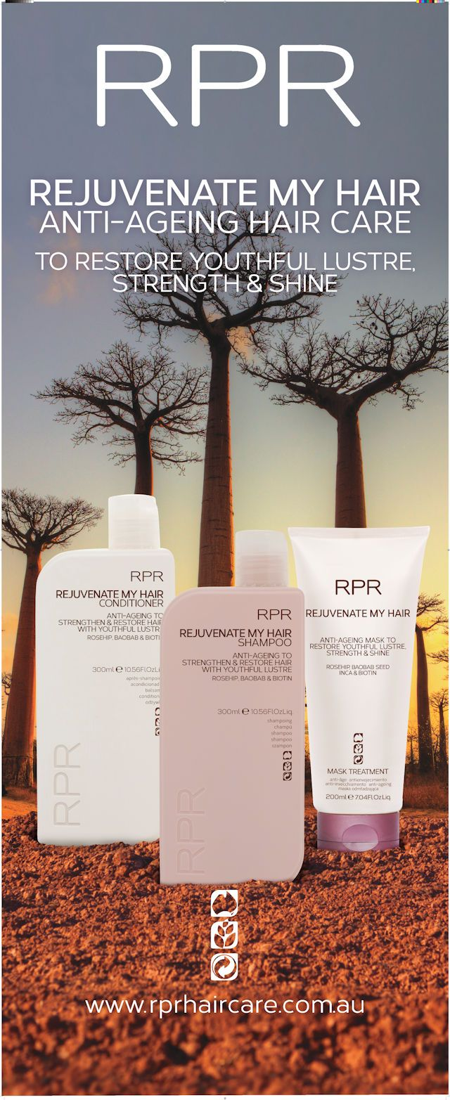 Shampoo, Conditioner & Mask. Anti-ageing to strengthen& restore hair with youthful lustre & shine. Rosehip, Baobab, Inca & Biotin.