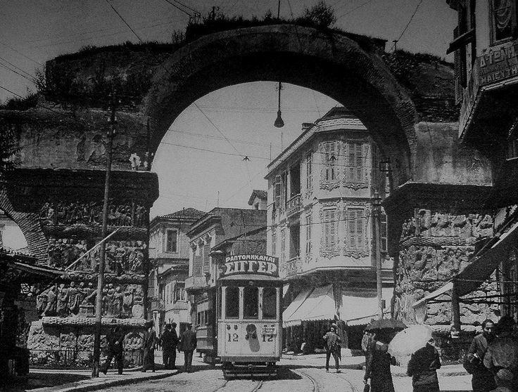 Τhe Arc of Galerius,Thessaloniki, Macedonia Greece 1930