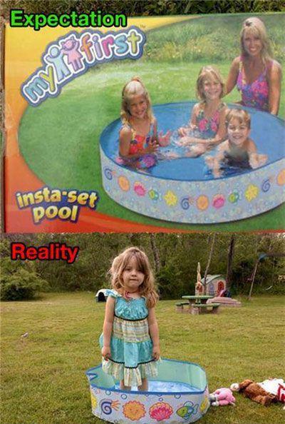 expectations vs. reality pool