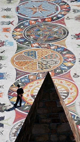 Mosaic walkway at the Donkin Reserve Port Elizabeth South Africa