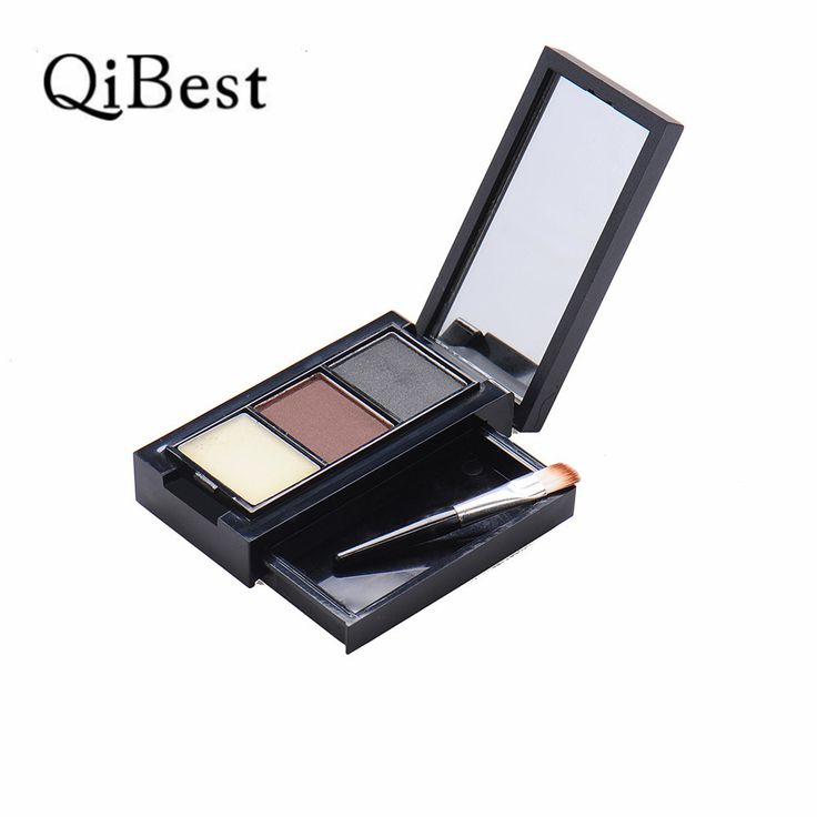 3 Colors Eyebrow Enhancer Palette Long-lasting Professional Eye Brow Powder Palette Eyebrow Wax Color Eyebrow Dye Eyes Makeup