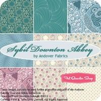 REPIN if you love the blues and purples in Sybil Downton Abbey Fat Quarter Bundle