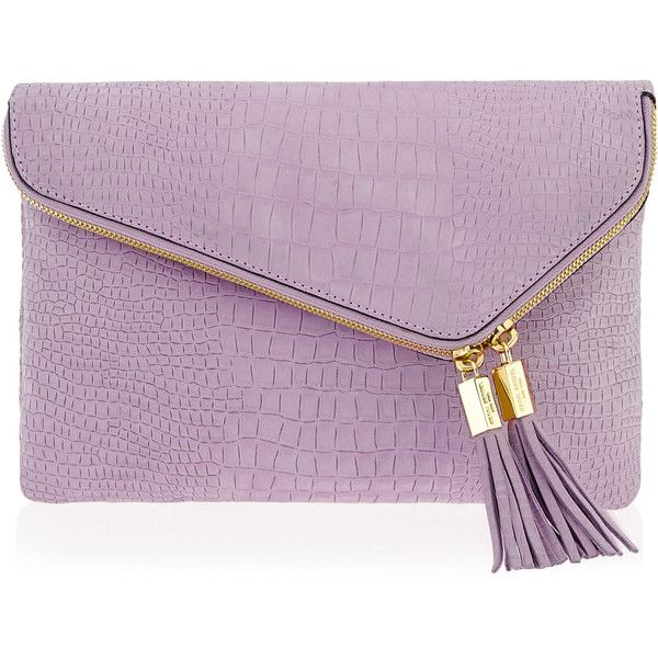 Henri Bendel Debutante Croco Convertible Clutch ($230) ❤ liked on Polyvore featuring bags, handbags, clutches, med purple, henri bendel purses, purple crocodile handbag, fold over handbag, croc handbags and croco handbags