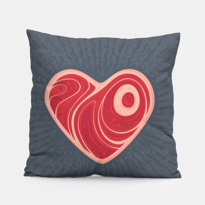 Meat Heart Pillow, Live Heroes