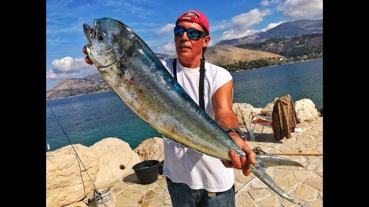 Mahi-mahi fishing techniques  from shore... fishing greece