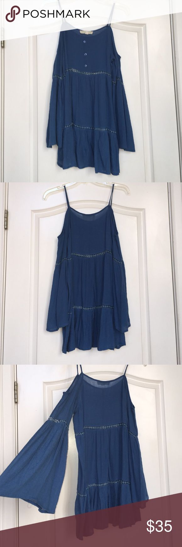Urban Outfitters Gauze Tunic Blue tiered Urban Outfitters tunic. Can be worn as a dress, but usually best paired with jeans or leggings! Urban Outfitters Tops Tunics