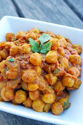 CHANA MASALA! Yummy!  Prolly going to hit this up in the near future. Always looking for new and exciting things to do with chick peas!