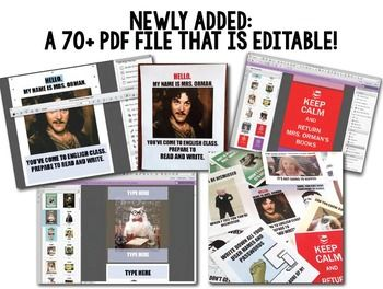 Teacher Memes Posters: Your favorite teacher memes in higher-quality .png and .pdf files for printing and display. NOW includes an EDITABLE file, so you can customize them!