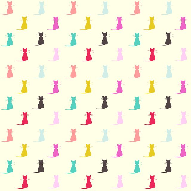 free digital cat scrapbooking paper: printable DIY wrapping paper with cats