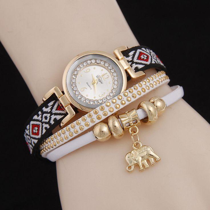 >> Click to Buy << 2016 New Bracelet Punk watches Women Dress Quartz Watch Fashion Women Leather Weaving watch female hours Relogio Feminino AC116 #Affiliate