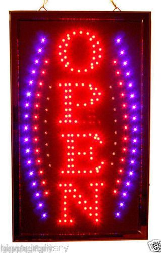 NEW-BRIGHT-VERTICAL-Animated-Business-LED-OPEN-Sign-w-Switch-19-x-10