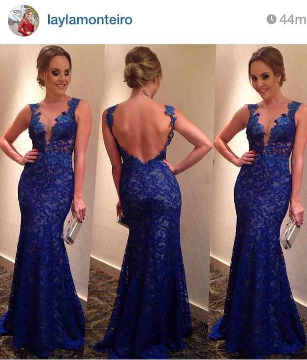 Vestido azul. Blog Layla Monteiro.