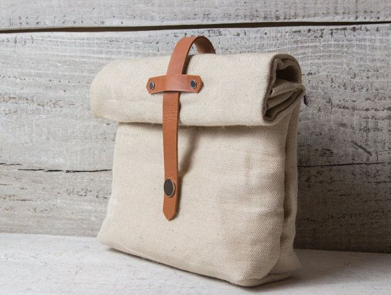 Canvas lunch bag | Etsy