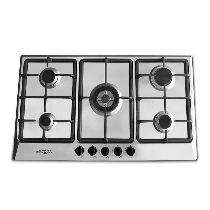 Ancona 34 in gas cooktop in stainless steel with 5