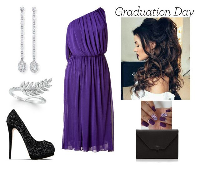 """""""Graduation Day"""" by paoladouka on Polyvore featuring Wrapped, Halston, Giuseppe Zanotti, Valextra and Messika"""
