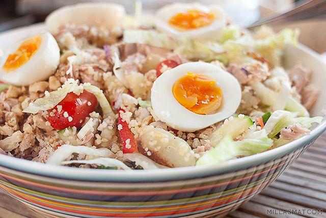 Bulgursalat med tunfisk og egg | Millas Mat