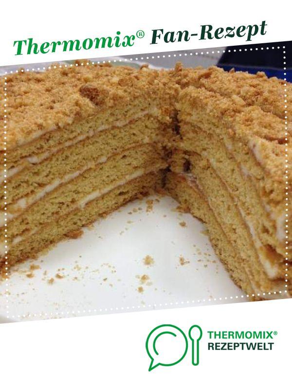 Honigtorte Medovik Rezept Thermomix Rezepte Thermomix Honigkuchen